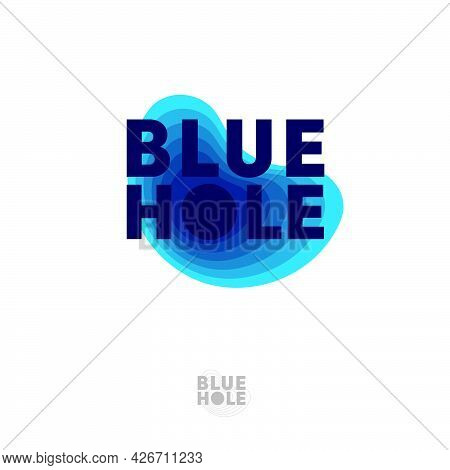 Blue Hole Emblem. Diving Logo. Diving, Free Diving Dive Gear Emblem. Emblem For Business, Sport, Int