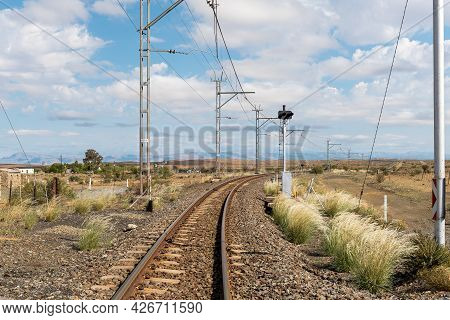 The Main Railroad Between Johannesburg And Cape Town At Prince Albert Road In The Western Cape Provi