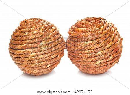 Two Wicker Balls