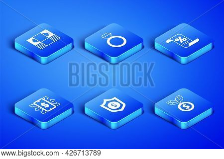 Set Dollar Plant, Stacks Paper Money Cash, Shield With Dollar, Smartphone, Diamond Engagement Ring A