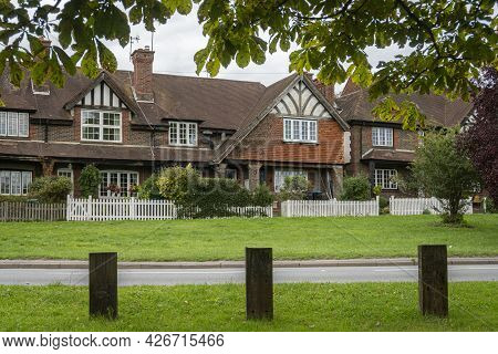 Godstone Green And Surrounding Buildings, Godstone, Surrey, Uk