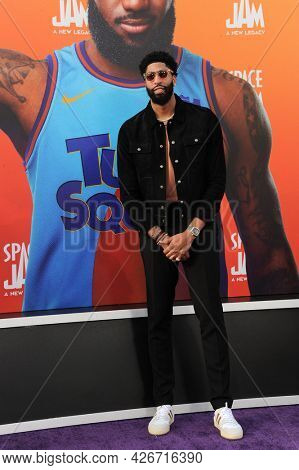 Anthony Davis at the Los Angeles premiere of 'Space Jam: A New Legacy' held at the Regal LA Live in Los Angeles on July 12, 2021.
