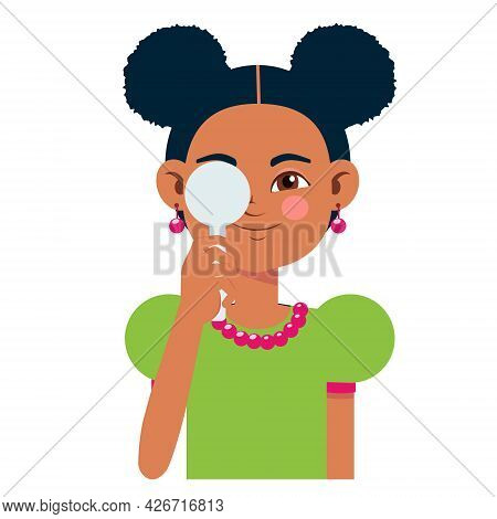 Children Vision Checkup In Ophthalmological Clinic. Optometrist Checking Kid Eyesight With Spectacle