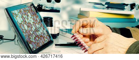 Workplace in the laboratory of genetic research