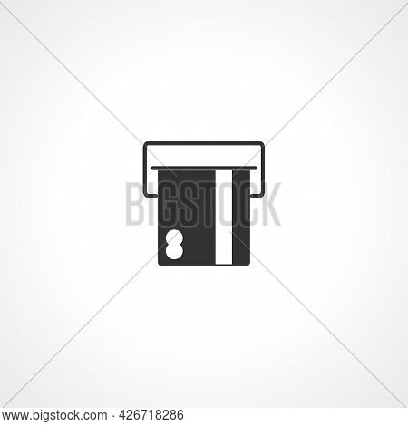 Insert Credit Card Icon. Insert Credit Card To Atm Isolated Simple Vector Icon