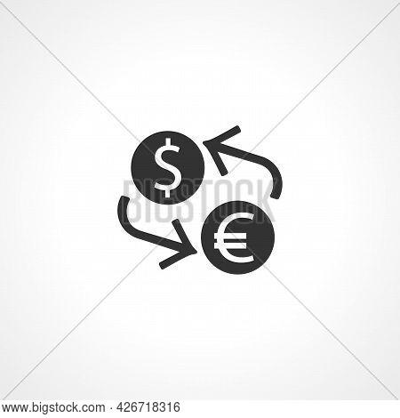 Exchange Icon. Exchange Isolated Simple Vector Icon