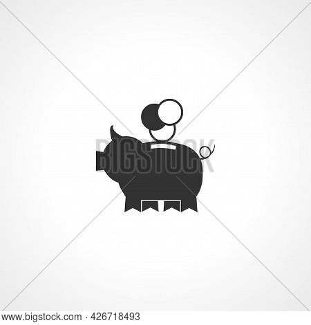 Piggy Bank Icon. Piggy Bank Isolated Simple Vector Icon
