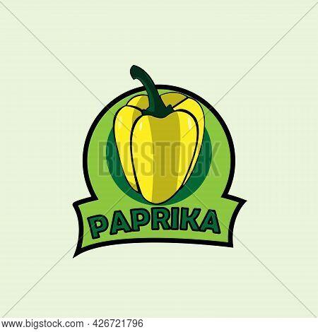 Paprika Design Logo Vector. Paprika Vegetable Vector
