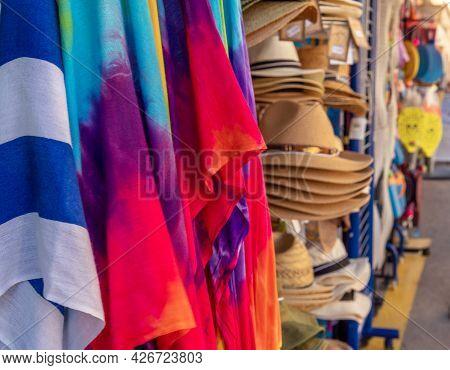 Close-up Of Summer Souvenir Items On The Island Of Majorca, Spain