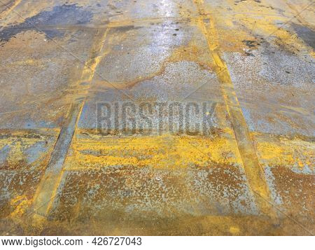 Rusted Sheet Metal - Close-up Abstract Heavy Industry And Low Tech Background