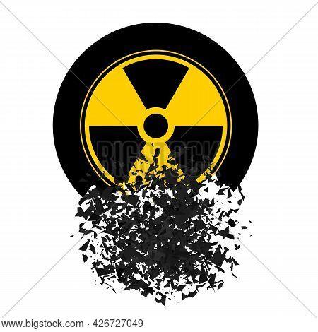 Ionizing Radiation Sign. Radioactive Contamination Symbol. Warning Danger Hazard On White Background