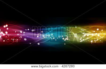 Bandera de colores Web