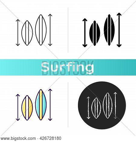 Choosing Surfboard Size Icon. Depending On Surfer Weight And Abilities. Shortboard, Longboard. Picki