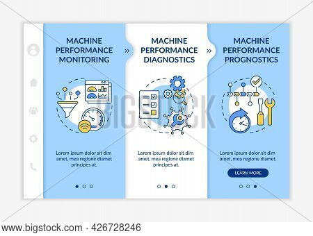 Digital Twin Tasks Onboarding Vector Template. Responsive Mobile Website With Icons. Web Page Walkth