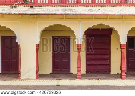 Colorful Arches At The City Palace Of Jaipur, India