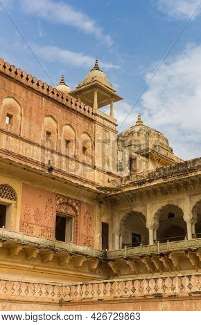 Corner Towers Of The Amer Fort In Jaipur, India