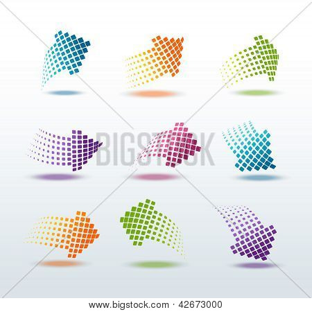 Arrows set vector illustration