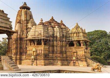 Decorated Temple In The Historic City Khajuraho, India