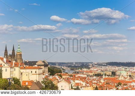 View Over The Historic Castle And Old Town Of Prague, Czech Republic
