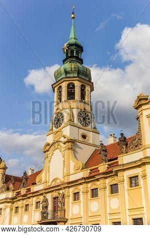 Tower Of The Historic Loreto Monastery In Prague, Czech Republic
