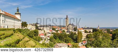 Panoramic View Of The Skyline Of Kutna Hora, Czech Republic