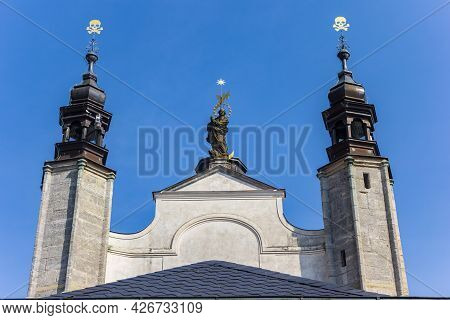 Towers Of The Sedlec Ossuary Church In Kutna Hora, Czech Republic