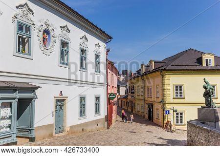 Kutna Hora, Czech Republic - September 14, 2020: Little Square In The Italian Court Area Of Kutna Ho
