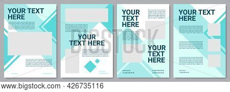 Industry Service Modern Brochure Template. Flyer, Booklet, Leaflet Print, Cover Design With Copy Spa