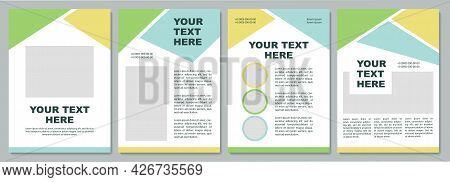 Company Introduction Brochure Template. Flyer, Booklet, Leaflet Print, Cover Design With Copy Space.