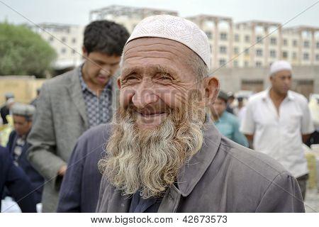 Senior Uyghur Ethnicity Man