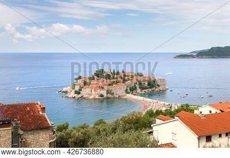 Sveti Stefan Island And Resort In Montenegro.