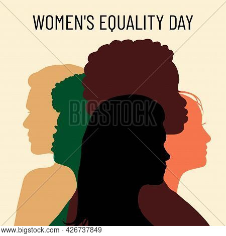 Women's Equality Day. Poster With Different Women. Female Holiday