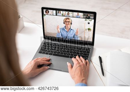 Diverse Business People Making Online Briefing Videocall At Home