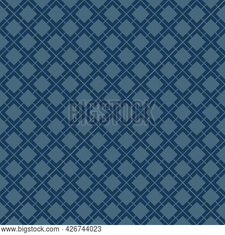 Vector Geometric Seamless Pattern. Abstract Vintage Texture With Small Diamond Shapes, Rhombuses, Sq
