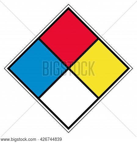 Nfpa Blank Symbol Sign, Vector Illustration, Isolate On White Background Label. Eps10