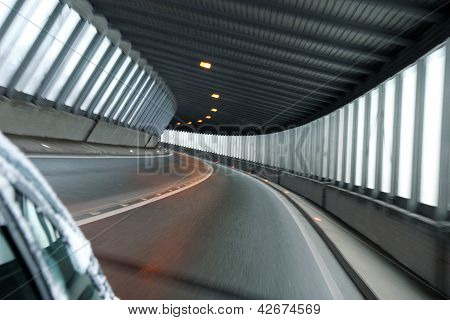 Detail Of Car Tunnel Illuminate With Day Light