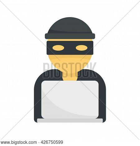 Hacker Icon. Flat Illustration Of Hacker Vector Icon Isolated On White Background