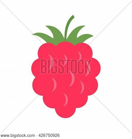 Raspberry Food Icon. Flat Illustration Of Raspberry Food Vector Icon Isolated On White Background