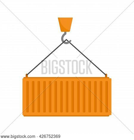 Cargo Container Icon. Flat Illustration Of Cargo Container Vector Icon Isolated On White Background