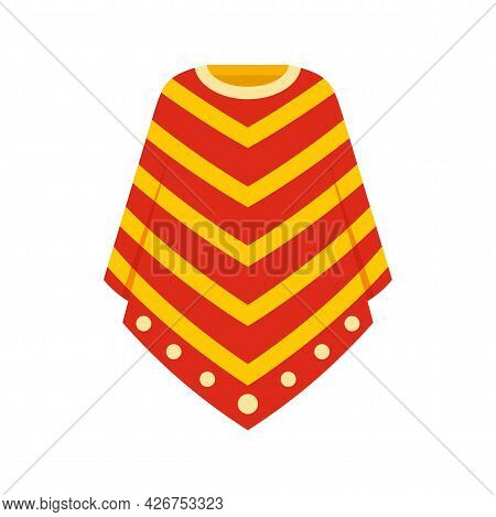 Peru Clothes Icon. Flat Illustration Of Peru Clothes Vector Icon Isolated On White Background