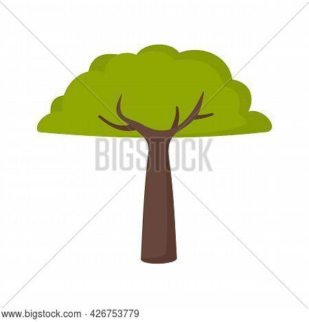 Peru Tree Icon. Flat Illustration Of Peru Tree Vector Icon Isolated On White Background