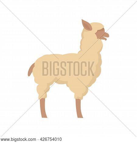 Lama Icon. Flat Illustration Of Lama Vector Icon Isolated On White Background
