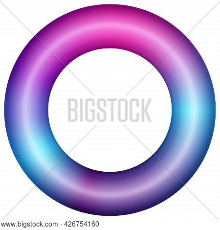 Glowing Bright Neon Torus. Abstract Background For Fashion Trend Poster