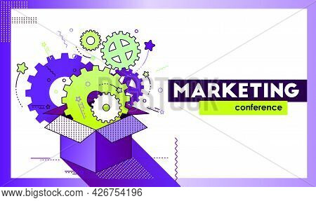 Flyer And Corporate Identity For A Marketing Conference