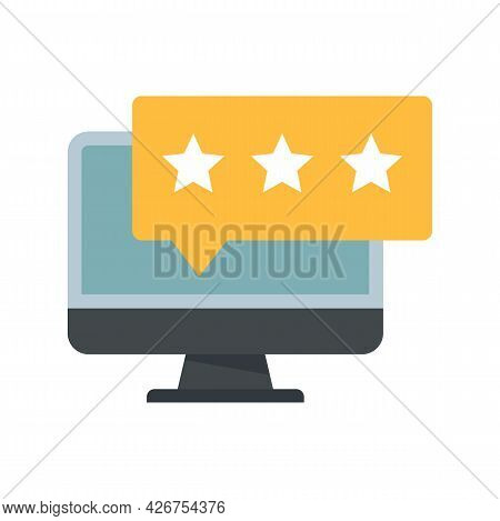 Online Feedback Icon. Flat Illustration Of Online Feedback Vector Icon Isolated On White Background