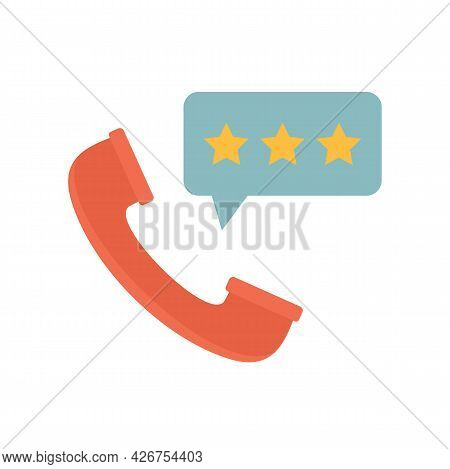 Call Center Feedback Icon. Flat Illustration Of Call Center Feedback Vector Icon Isolated On White B