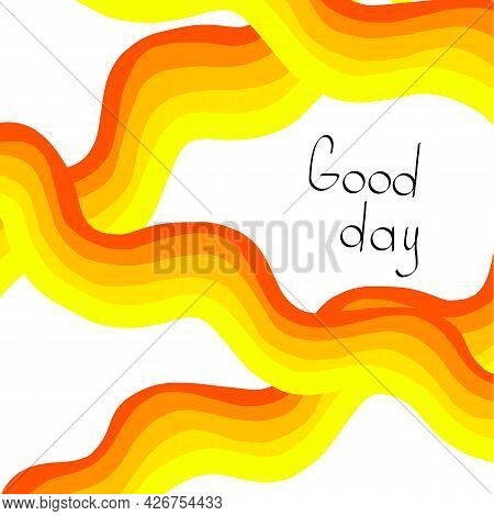 Abstract Wave Line. Abstract Of Color Stylish Strip Lines Wave Wave Pattern Background.
