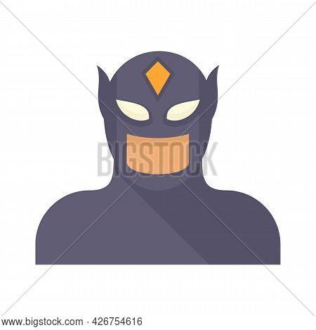 Comic Superhero Icon. Flat Illustration Of Comic Superhero Vector Icon Isolated On White Background