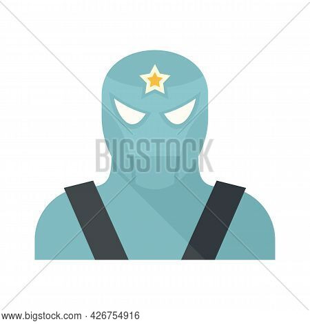Famous Superhero Icon. Flat Illustration Of Famous Superhero Vector Icon Isolated On White Backgroun