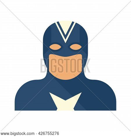 Fantasy Superhero Icon. Flat Illustration Of Fantasy Superhero Vector Icon Isolated On White Backgro